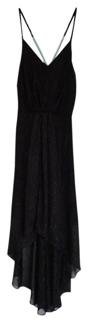 Black, metallic Maxi Dress by BCG High-low Sleeveless Metallic