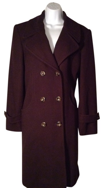 Item - Brown Wool Women Fully Lined Coat Size 10 (M)