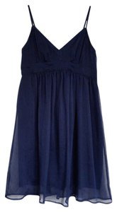 American Eagle Outfitters short dress Navy blue Flowy Sleeveless Staps on Tradesy