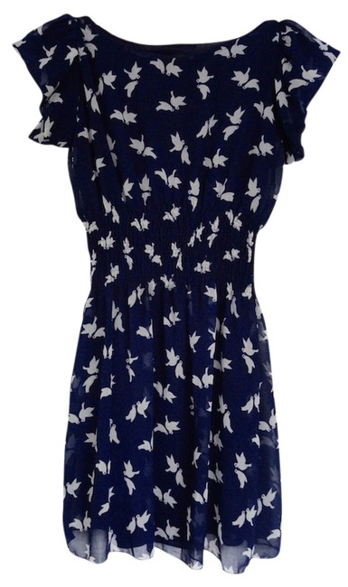 SM Wardrobe short dress Navy blue Birds Blue on Tradesy