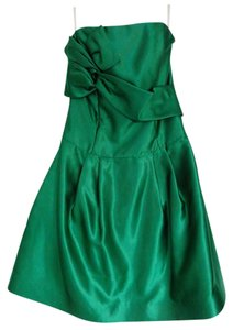 Jessica McClintock Satin Homecoming Juniors Dress