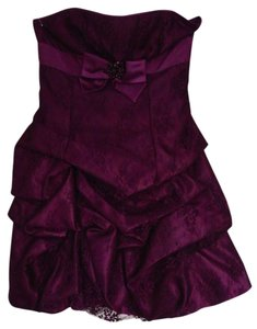 Jessica McClintock Lace Satin Homecoming Dress