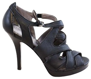 Coach Heels Leather Patent Leather Black Pumps