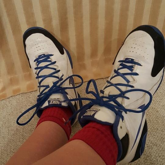 Nike Basketball white and blue Athletic