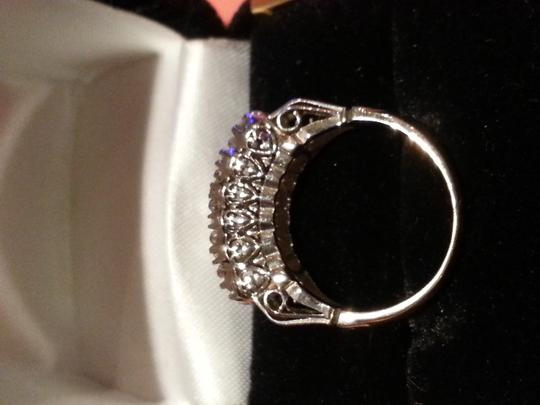 14k Diamond Ring Antique Rose Cut Diamonds Engagement Women's Wedding Band