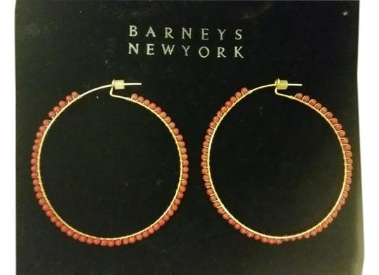 Preload https://item1.tradesy.com/images/barneys-new-york-red-bead-hoop-earrings-4597495-0-0.jpg?width=440&height=440
