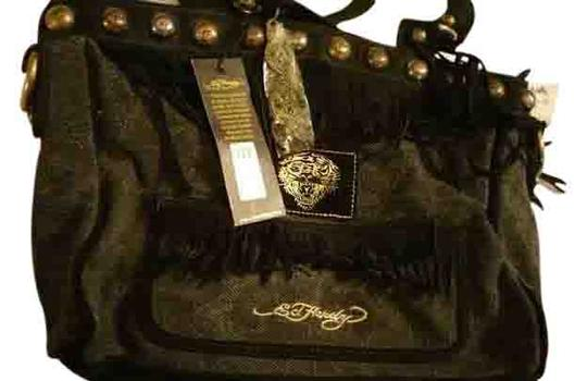 Ed Hardy Christian Aug Tote in black