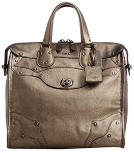 Coach Satchel in Metallic Vapor Bronze