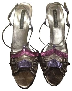 Claudia Ciuti Purple, Taupe And Violet Sandals