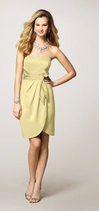 Alfred Angelo Yellow Unknown 7126 Modern Bridesmaid/Mob Dress Size 6 (S)