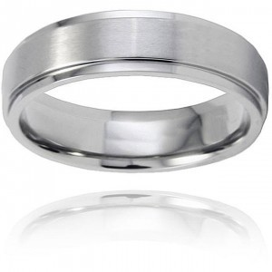 /Other Reduced: Titanium Ring Brushed and Polished Men's Wedding Band