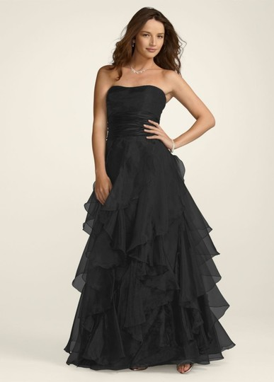 Preload https://img-static.tradesy.com/item/46123/david-s-bridal-black-organza-f14196-feminine-bridesmaidmob-dress-size-12-l-0-0-540-540.jpg