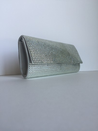 Other Shoulder Rhinestones Jeweled Silver Clutch