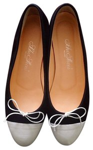 SchoShoes Suede Ballerina black/white SchoShoes Flats