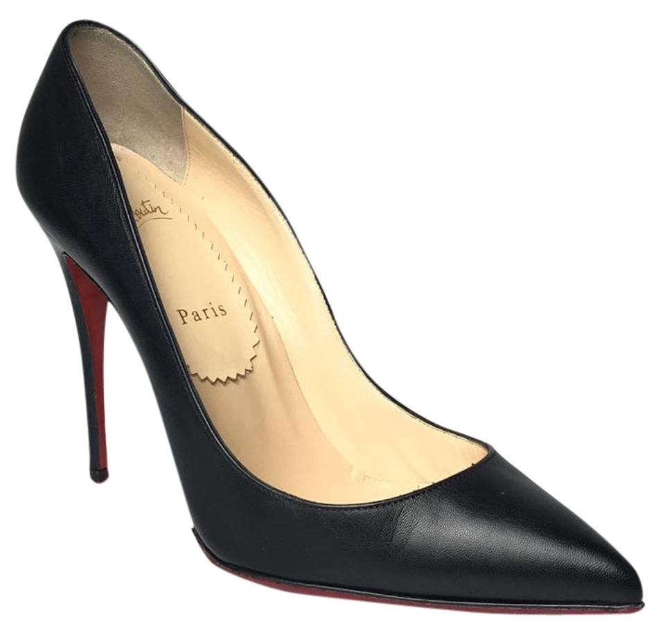 Christian Louboutin Black Leather Toe Pointed Toe Leather Pumps 1c1f69
