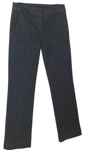J.Crew Denim Trouser/Wide Leg Jeans-Dark Rinse
