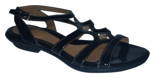 Eürosoft by Söfft Nearly New Cond Padded Footbaed Arch Support Strappy Style Black Flats