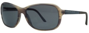PORSCHE DESIGN Porsche Brown Horn Rectangular Sunglasses