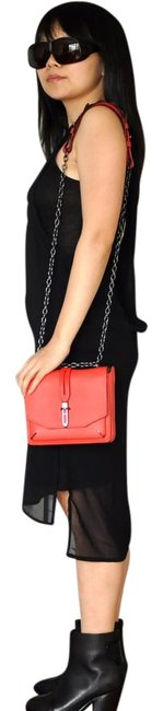 Item - Chain Enfield -- Coral Red Leather Shoulder Bag