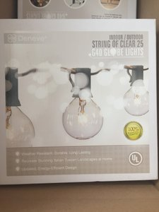 Globe String Lights With 25 Clear Bulbs By Deneve - Ul Listed Indoor & Outdoor Lights Perfect For Outdoor Wedding