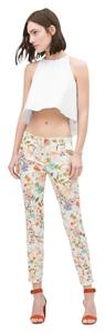 Zara Floral Summer Skinny Pants Multicolor