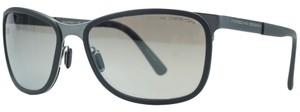 PORSCHE DESIGN Porsche Silver/Grey Rectangular Sunglasses