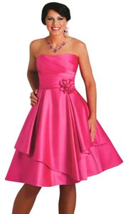 Andrew Adela Satin Bridesmaid Short Dress