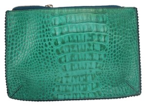 Furla Furla Leather Crocodile Embossed Cosmetic Pouch FULM3