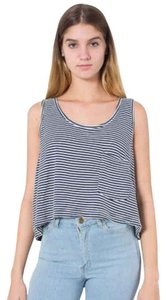 American Apparel Top Navy natural stripe