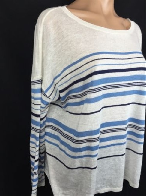 Joie Striped Boatneck Linen Sweater
