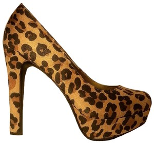 Mossimo Supply Co. Suede Animal Print Platform Pumps