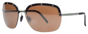 PORSCHE DESIGN Porsche Gold Square Sunglasses