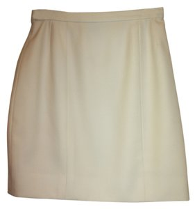 Chanel Vintage Classic Exclusive Skirt Creme Wool