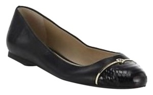 Tory Burch Snake Embossed Black Flats