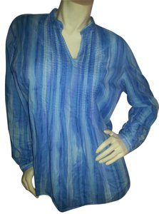 Liz & Co. Sheer Cotton Soft Tunic
