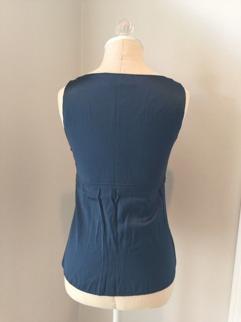 Elie Tahari 100%silk Top Navy Blue