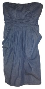 JFW short dress Denim, blue Strapless Plus-size 1x on Tradesy