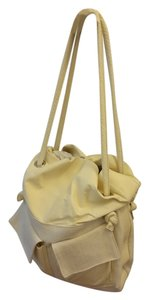 Rivamonti Shopping Shopping Shopping Shopping Shopping Travel Canvas Leather Canvas And Leather Tote in Cream white