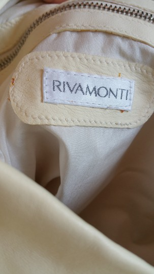 Rivamonti Shopping Shopping Shoulder Shopping Shopping Shopping Travel Shoulder Canvas Leather Canvas And Tote in Cream white