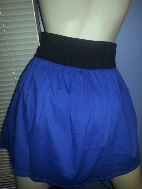 Body Central Mini Skirt Black and Royal Blue