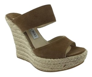 Jimmy Choo Suede Beige Wedges
