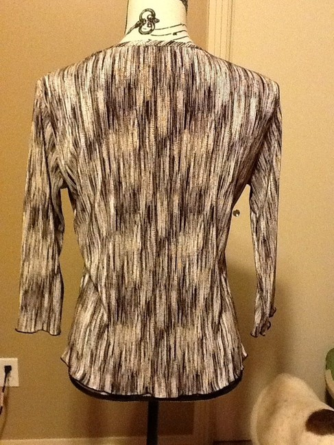 Other Comfortable Professional Office 3/4 Sleeves Fall Spring Pull-over Top Browns