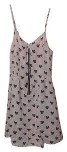 Divided by H&M short dress pink w. black bows on Tradesy