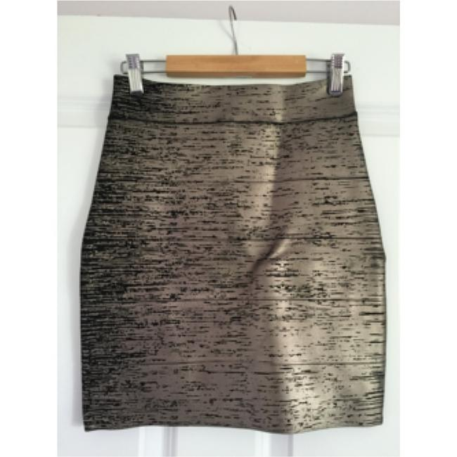 BCBGMAXAZRIA short dress Gunmetal on Tradesy