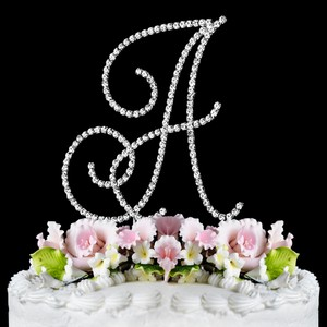 A Rhinestone Wedding Cake Topper