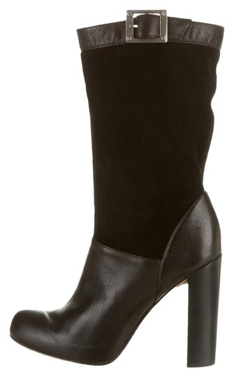 Rachel Zoe Black leather and suede Boots