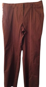 Apostrophe Casual Zip Fly Straight Pants Brown