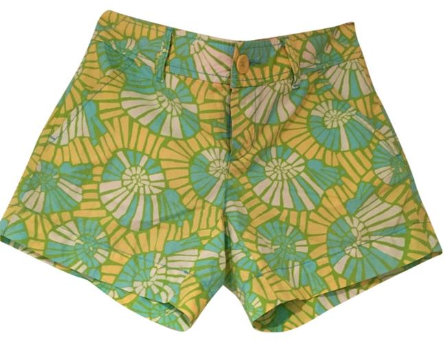 Lilly Pulitzer Mini/Short Shorts Yellow green blue