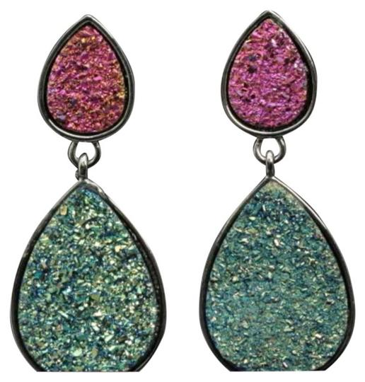 Other Brand New Druzy Style Look Colorful Dangle Earrings