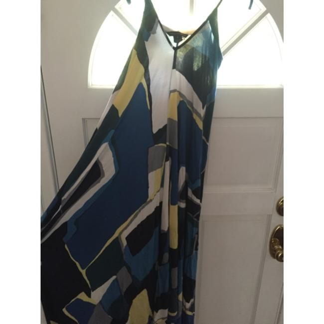 Royal Blue/Yellow/White Maxi Dress by French Connection
